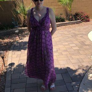 Medium purple sleeveless dress